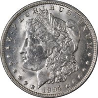 1891-O Morgan Silver Dollar Nice BU Blast White Nice Eye Appeal