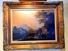 18th C OIL ON CANVAS ENGLISH ORIGINAL PAINTING LANDSCAPE BY RICHARD WILSON R.A.