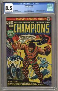 Champions #1 (CGC 8.5) OW/W p; Origin/1st app. Champions; Venus x-over (j#5663)