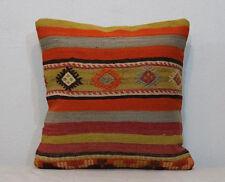20''x20'' Kilim Pillow Cover,50x50 Cm Pillows Orange Pillow Cover,Orange Cushion