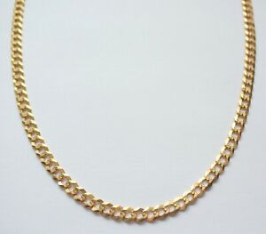 """Gold Necklace Patterned  Chain 9 Carat 18"""" Mens Womens Unisex Jewellery"""