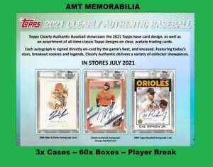 Aaron Nola Phillies 2021 Topps Clearly Authentic 3X Case 60X BOX BREAK #1