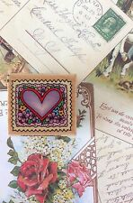 Faux Postage Heart Postal Snail Mail Rubber Stamp Envelope Art All Occasions