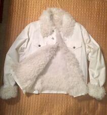 dff4c7112d97 GUCCI True Vintage Jean Jacket, Lamb hair lining,Italian size 54-Winter  White
