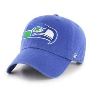 Seattle Seahawks '47 Clean Up Legacy Adjustable On Field Cotton Royal Hat NFL