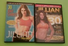JILLIAN MICHAELS - Lot of 2 DVDs - 30 Day Shred & Ripped in 30
