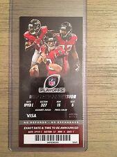 NFC Atlanta Falcons vs. Seattle Seahawks NFL Playoff Ticket Stub 1/14/17 MINT