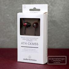 Audio Technica ATH CKM55 (Red) Dynamic  Headphones Earphones Headset