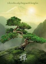 More details for zen mountain - giant poster 100cm x 140cm new and sealed