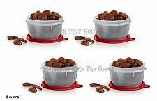 Tupperware Ideal Little Bowls 8oz. Set 4 Lit'l Snack Cup NEW Holiday RED