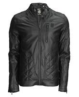 Soul Star Men's Biker Faux Leather Jacket Short Fashion Coat S M L XL XXL Black