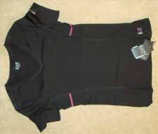 Women's EA7 Emporio Armani Black Activewear Sports Top TShirt Size Small - BNWT