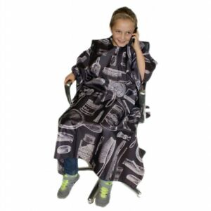 Hairtools Childrens Vintage Barber Gown - Charcoal
