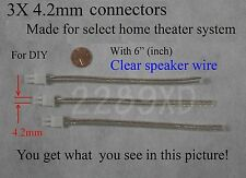 3 4.2mm speaker connectors made for select sony/samsung/Panasonic Home theater