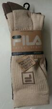 Fila Casual Sport Crew Cut Arch Ribbed Comfort Socks 3 pk 3 Colors Size 10-13