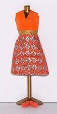 Fits Topper Dawn, Pippa, Triki Miki Doll, Diamond Print Clone Dress - Lot #174