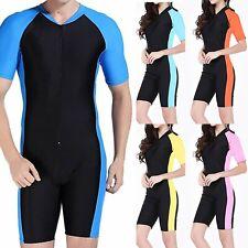 Lightweight Full Body Wetsuit Diving Snorkeling Surfing Scuba Suit Short sleeve