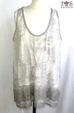 JS MILLENIUM - TANK TOP 2 IN 1 TAUPE & WHITE SIZE 42/44 - PERFECT CONDITION