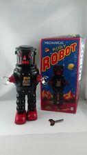 Jouet vintage robot en tôle Roby Robot MS 640 22cm + clé + boite - fonctionne