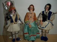 Vintage Greek Tsolias by Evelt Authentic Costume Souvenir Dolls