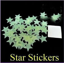 100 X Home Wall Ceiling Glow In The Dark Twinkle Stars Stickers Decal Bedroom