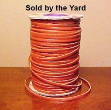 SADDLETAN (SADDLE TAN) Kangaroo Leather Lacing in 3/32 Inch Width - SOLD BY YARD