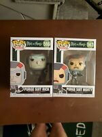Funko Pop! Animation Purge Suit Rick And Morty #566 & #567 Vinyl Figures NEW
