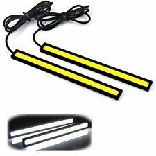 2x White 12V LED COB Strip Daytime Running Fog Light Driving Lamp DRL Waterproof