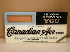 Vintage Canadian Ace Beer Glass Sign Beeco Manufactured