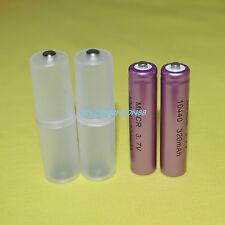 2X ICR 10440 3.7 V Li-ion Batería + 2X AAA a Adaptador Convertidor Espaciador de batería AA