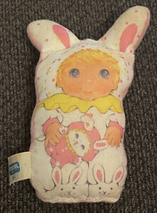 1986 Playskool Jammie Pies Soft Li'l Squeakers Lolli Bye Bumble Bunny Plush Baby