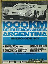 1971 Argentina 1000km 917 GULF  Porsche Genuine Factory Poster Original