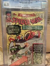Amazing Spider-Man 14 Cgc 6.0 First Appearance 1st App Green Goblin White Pages