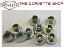 C3 Corvette Pillar Post Weatherstrip Inner Clip Rivets 10pcs set 1969-1982 46871