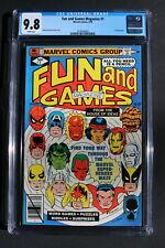 FUN and GAMES Magazine #1 Marvel 1979 Spider-Man Hulk Iron Man Surfer CGC 9.8