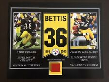 JEROME BETTIS PITTSBURGH STEELERS 3 RIVERS STADIUM SEAT 8 X 10 COA