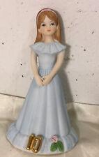 "New ListingGrowing Up Birthday Girls Age 10 Porcelain Figurine Enesco Brunette 5"" 1981 Euc"