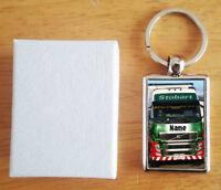 Personalised (WITH YOUR NAME) Stobart Truck Lorry Van Keys Metal Keyring Gift