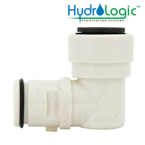 """Hydro-Logic 1/2"""" Quick Connect Elbow, HL 23075, for Merlin GP & Evolution RO1000"""