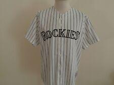 COLORADO ROCKIES #9 STEWART MLB BASEBALL WHITE SEWN JERSEY MAJESTIC MEN XL