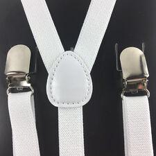"1X Mens Womens Clip-on 0.5"" Thin Skinny Suspenders Elastic Y-Shape Suspender"