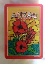 EMPTY ANZAC POPPY BISCUIT TIN 2009