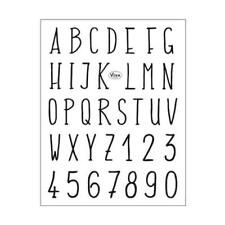 Viva Decor A5 Clear Silicone Stamps Set - Modern Alphabet & Numbers #155