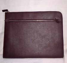 Banana Republic Men's Burgundy Leather Portfolio