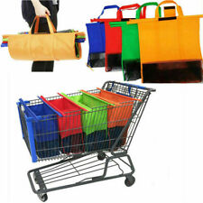 Set of 4 Reusable Grocery Supermarket Shopping Cart Trolley Bags Eco Foldable