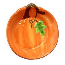 Plentiful Pantry Pumpkin Stoneware Pie Pan Deep Baking Dish Serving Plate