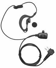 Security G-Shape Headset/Earpiece Mic For Motorola Radio Walkie Talkie 2 Pin UK