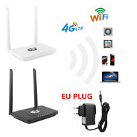 4G LTE 150Mbps Wireless WiFi Router Home CPE Dual Antenna Network SIM Card Slot