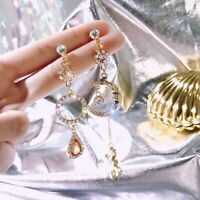 Korean Style Moon Star Planet Drop Dangle Earrings Asymmetric Women