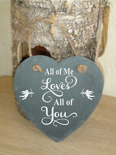 Fathers DAY personalised slate engraved hanging HEART Gift Custom etched name